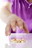 Abuso del medicamento de venta con receta Imagen de archivo libre de regalías