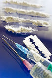 Abuso del narcótico - uso de la droga de la cocaína Fotos de archivo libres de regalías