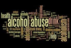 Abuso di alcool illustrazione vettoriale
