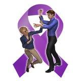 Abuso di violenza domestica Fotografie Stock Libere da Diritti