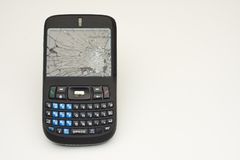 Abuso do telefone de pilha Imagem de Stock Royalty Free