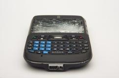 Abuso do telefone de pilha Fotografia de Stock