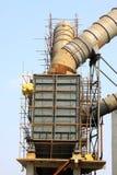 Abwärme-Stromerzeugungsausrüstung des Drehrohrofens in einem Zement pl Lizenzfreie Stockbilder