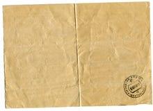 Abwärts gerichtetes Telegramm, das den Stempel von Post trägt Stockfoto