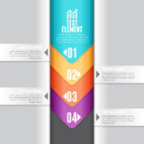 Abwärts Pfeil Infographic Stockfoto