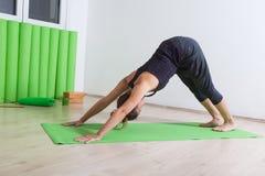 Abwärtsgerichteter Hund, Yogahaltung Lizenzfreie Stockbilder