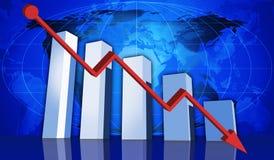 Abwärtstrend Lizenzfreies Stockfoto