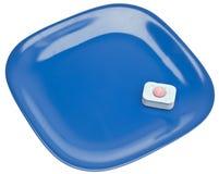 Abwasch-Tablette und saubere Platte Lizenzfreie Stockbilder