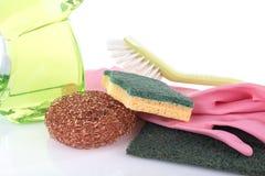 Abwaschflüssigkeit mit Reinigungsanlage Stockbilder