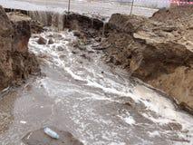 Abwasser in der Grube Lizenzfreies Stockbild