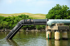 Abwasser-Mündung Lizenzfreies Stockfoto