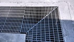 Abwasser-Stahl-Gitter Lizenzfreies Stockbild