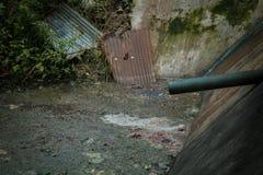Abwasser von den Lebensmittelabfällen Lizenzfreie Stockbilder