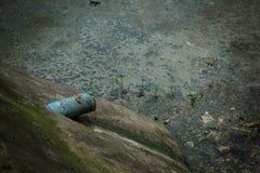 Abwasser von den Lebensmittelabfällen Lizenzfreies Stockfoto