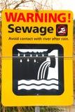 Abwasser-Zeichen Lizenzfreie Stockfotografie