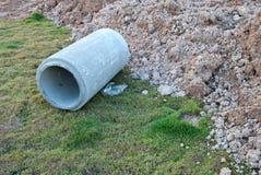 Abwasserabflussbau Stockbild