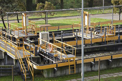 Abwasseranlage Stockfotografie