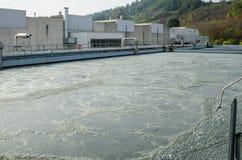 Abwasserbehandlung mit biologischem Schlamm Lizenzfreies Stockbild