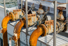 Abwasserbehandlung mit biologischem Schlamm Lizenzfreies Stockfoto