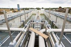Abwasserbehandlung Wasserpumpenstation Stockfotografie