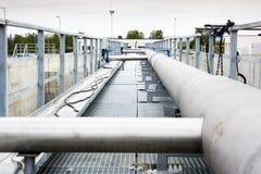 Abwasserbehandlung Wasserpumpenstation Stockfotos