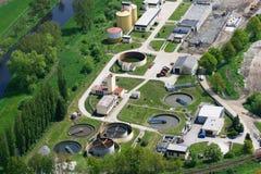 Abwasserbehandlunganlage stockbild