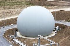 Abwasserbehandlungs-Anlage Gasbehälter Lizenzfreie Stockbilder