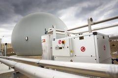 Abwasserbehandlungs-Anlage Gasbehälter Stockfoto