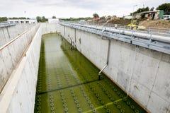 Abwasserbehandlungs-Anlage Wasserbehälter Stockfotografie