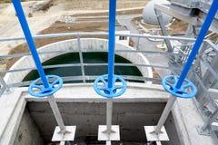 Abwasserbehandlungs-Anlagenventilrohre Lizenzfreies Stockbild