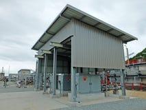 Abwasserbehandlungs-Kontrollstation Lizenzfreies Stockbild