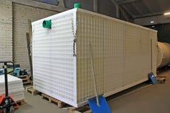 Abwasserbehandlungs-Systemblock für mehrstöckiges Gebäude Stockfotos