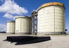 Abwasserbehandlungsilos Lizenzfreie Stockfotografie