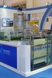 Abwasserbeseitigungs- und Wasserprozessormodelle nehmen an der Ausstellung teil Stockbilder