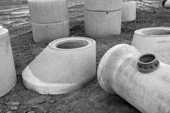 Abwasserkanal-Aufbau Lizenzfreie Stockfotografie