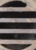 Abwasserkanal-Gitter-Makro asymetrisch Lizenzfreies Stockbild