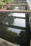 Abwasserkanal konkret lizenzfreie stockfotos