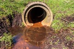 Abwasserkanalanschluß in der Natur Lizenzfreie Stockfotografie