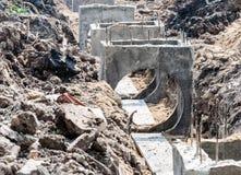 Abwasserkanalbau Lizenzfreies Stockfoto