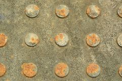 Abwasserkanaldeckelmaterial mit einer Kreisvignette Lizenzfreies Stockbild