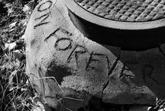 Abwasserkanalgraffiti Stockfotografie
