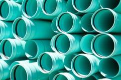 Abwasserkanalrohrleitungauszug Lizenzfreies Stockfoto