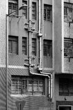 Abwasserkanalsystem. Stockfotografie