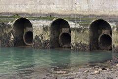 Abwasserrohre Stockbild