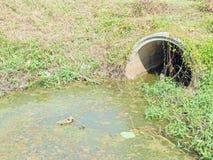 Abwasserteich Stockbild