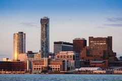 Abwechselnde Liverpool-Skyline Lizenzfreie Stockfotografie