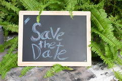 ` Abwehr das Datum ` Wort geschrieben Lizenzfreies Stockbild