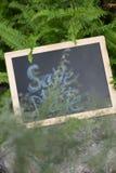 ` Abwehr das Datum ` Wort geschrieben auf Tafel Stockbild