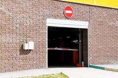 Abweichen vom Untertageparken Tor für Ausgang Die Sperre ist geschlossen Lizenzfreies Stockbild