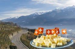 Abweichen von Straßen in Veltlin, ein Tal nahe Sondrio in der Lombardei-Region von Nord-Italien die Schweiz einfassend Lizenzfreie Stockbilder